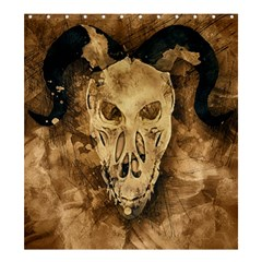 Skull Demon Scary Halloween Horror Shower Curtain 66  X 72  (large)  by Celenk