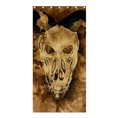 Skull Demon Scary Halloween Horror Shower Curtain 36  X 72  (stall)  by Celenk