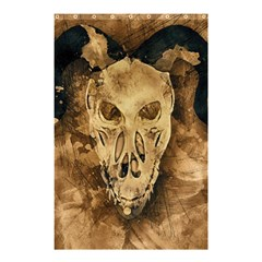 Skull Demon Scary Halloween Horror Shower Curtain 48  X 72  (small)  by Celenk