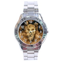 Skull Demon Scary Halloween Horror Stainless Steel Analogue Watch by Celenk