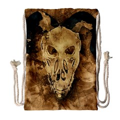 Skull Demon Scary Halloween Horror Drawstring Bag (large) by Celenk
