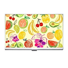 Cute Fruits Pattern Business Card Holders by paulaoliveiradesign