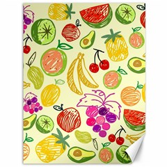 Cute Fruits Pattern Canvas 36  X 48   by paulaoliveiradesign