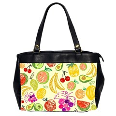 Cute Fruits Pattern Office Handbags (2 Sides)  by paulaoliveiradesign