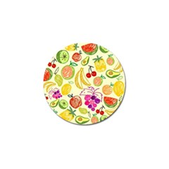 Cute Fruits Pattern Golf Ball Marker by paulaoliveiradesign