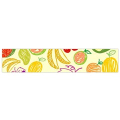 Cute Fruits Pattern Small Flano Scarf by paulaoliveiradesign