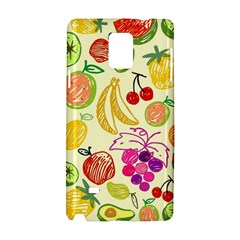 Cute Fruits Pattern Samsung Galaxy Note 4 Hardshell Case by paulaoliveiradesign