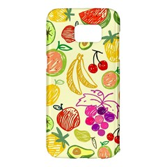 Cute Fruits Pattern Samsung Galaxy S7 Edge Hardshell Case by paulaoliveiradesign