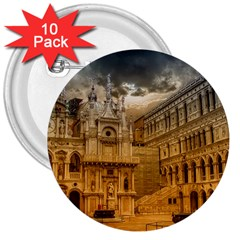 Palace Monument Architecture 3  Buttons (10 Pack)  by Celenk