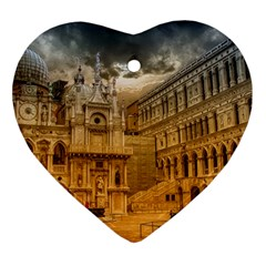 Palace Monument Architecture Heart Ornament (two Sides) by Celenk