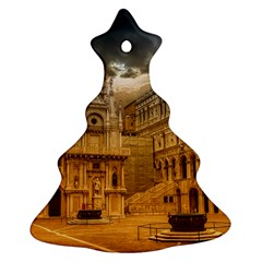 Palace Monument Architecture Christmas Tree Ornament (two Sides) by Celenk