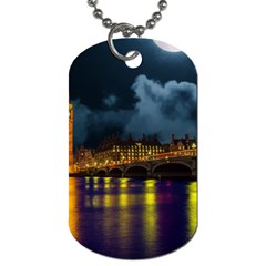 London Skyline England Landmark Dog Tag (one Side)