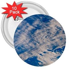 Clouds Sky Scene 3  Buttons (10 Pack)  by Celenk