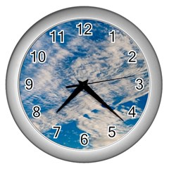 Clouds Sky Scene Wall Clocks (silver)