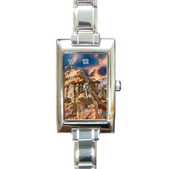 Canyon Dramatic Landscape Sky Rectangle Italian Charm Watch by Celenk