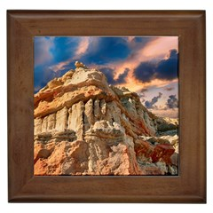 Canyon Dramatic Landscape Sky Framed Tiles