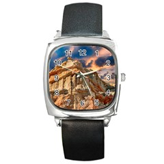 Canyon Dramatic Landscape Sky Square Metal Watch by Celenk