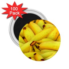 Yellow Banana Fruit Vegetarian Natural 2 25  Magnets (100 Pack)  by Celenk