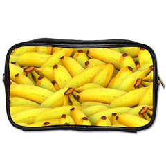 Yellow Banana Fruit Vegetarian Natural Toiletries Bags 2 Side by Celenk