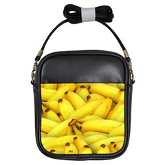 Yellow Banana Fruit Vegetarian Natural Girls Sling Bags by Celenk