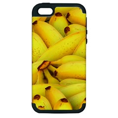 Yellow Banana Fruit Vegetarian Natural Apple Iphone 5 Hardshell Case (pc+silicone) by Celenk