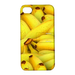Yellow Banana Fruit Vegetarian Natural Apple Iphone 4/4s Hardshell Case With Stand by Celenk