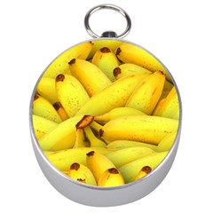 Yellow Banana Fruit Vegetarian Natural Silver Compasses by Celenk