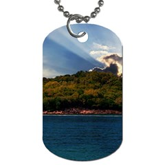 Island God Rays Sky Nature Sea Dog Tag (two Sides)