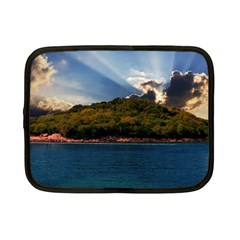 Island God Rays Sky Nature Sea Netbook Case (small)  by Celenk