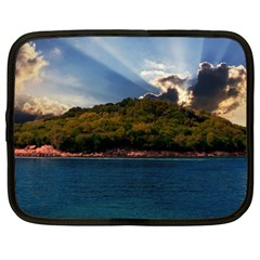 Island God Rays Sky Nature Sea Netbook Case (xl)  by Celenk