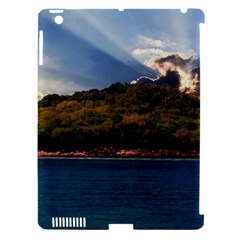 Island God Rays Sky Nature Sea Apple Ipad 3/4 Hardshell Case (compatible With Smart Cover) by Celenk