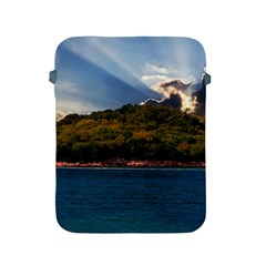 Island God Rays Sky Nature Sea Apple Ipad 2/3/4 Protective Soft Cases by Celenk