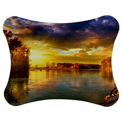 Landscape Lake Sun Sky Nature Jigsaw Puzzle Photo Stand (bow) by Celenk