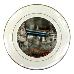 Destruction City Building Porcelain Plates