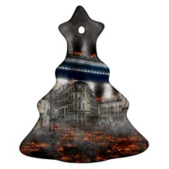 Destruction City Building Christmas Tree Ornament (two Sides) by Celenk