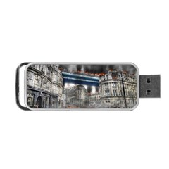 Destruction City Building Portable Usb Flash (two Sides) by Celenk