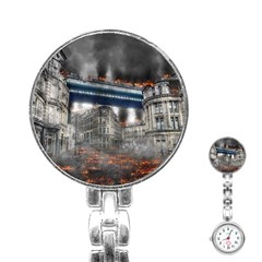 Destruction City Building Stainless Steel Nurses Watch