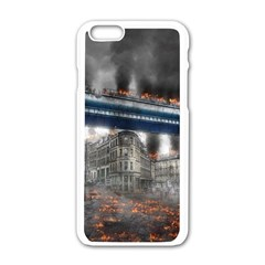 Destruction City Building Apple Iphone 6/6s White Enamel Case by Celenk