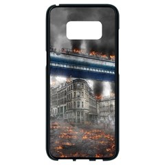 Destruction City Building Samsung Galaxy S8 Black Seamless Case by Celenk