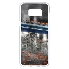 Destruction City Building Samsung Galaxy S8 Plus White Seamless Case by Celenk