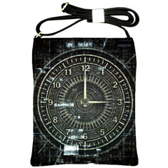 Time Machine Science Fiction Future Shoulder Sling Bags by Celenk