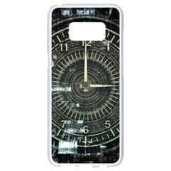 Time Machine Science Fiction Future Samsung Galaxy S8 White Seamless Case by Celenk
