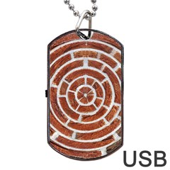 Brick Pattern Texture Backdrop Dog Tag Usb Flash (one Side)