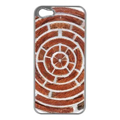 Brick Pattern Texture Backdrop Apple Iphone 5 Case (silver)