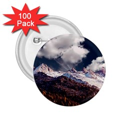 Mountain Sky Landscape Hill Rock 2 25  Buttons (100 Pack)  by Celenk