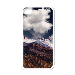Mountain Sky Landscape Hill Rock Apple Iphone 4 Case (white)