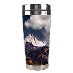 Mountain Sky Landscape Hill Rock Stainless Steel Travel Tumblers by Celenk