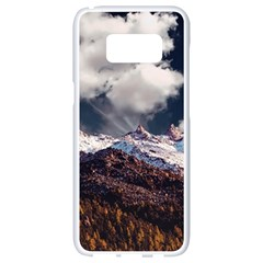 Mountain Sky Landscape Hill Rock Samsung Galaxy S8 White Seamless Case by Celenk