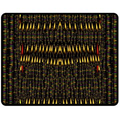 Hot As Candles And Fireworks In The Night Sky Fleece Blanket (medium)  by pepitasart