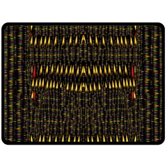 Hot As Candles And Fireworks In The Night Sky Double Sided Fleece Blanket (large)  by pepitasart
